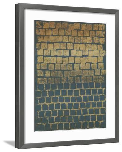 Non-Embellished Mosaic Sunset II--Framed Art Print