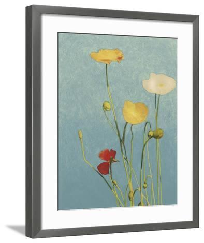 Non-Embellished Poppies I--Framed Art Print
