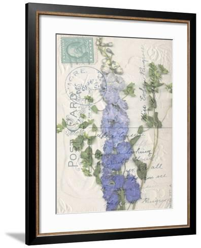 Non-Embellished Postcard Wildflowers II--Framed Art Print