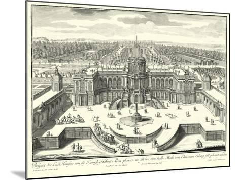Fountains of Versailles II--Mounted Art Print