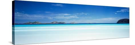 Seascape with Cliffs in the Background, Cape Le Grand National Park, Lucky Bay, Western Australia--Stretched Canvas Print