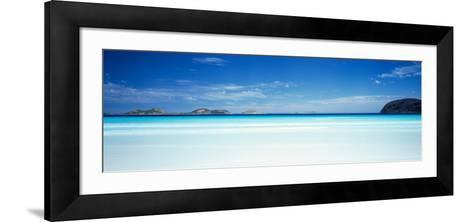 Seascape with Cliffs in the Background, Cape Le Grand National Park, Lucky Bay, Western Australia--Framed Art Print
