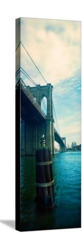 Bridge Across a River, Brooklyn Bridge, East River, Brooklyn, New York City, New York State, USA--Stretched Canvas Print