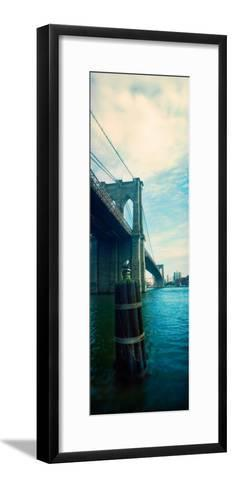 Bridge Across a River, Brooklyn Bridge, East River, Brooklyn, New York City, New York State, USA--Framed Art Print
