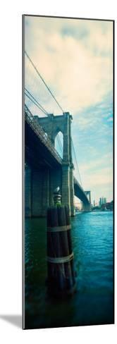 Bridge Across a River, Brooklyn Bridge, East River, Brooklyn, New York City, New York State, USA--Mounted Photographic Print
