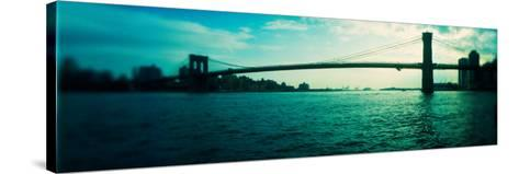 Bridge Across a River, Brooklyn Bridge, East River, Brooklyn, New York City, New York State, USA--Stretched Canvas Print