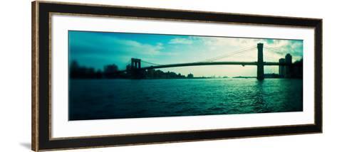 Bridge Across a River, Brooklyn Bridge, East River, Brooklyn, New York City, New York State, USA--Framed Art Print