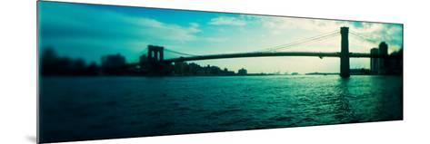 Bridge Across a River, Brooklyn Bridge, East River, Brooklyn, New York City, New York State, USA--Mounted Photographic Print