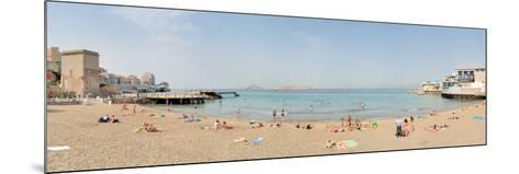Tourists Sunbathing on the Beach, Catalans Beach, Marseille, Bouches-Du-Rhone, France--Mounted Photographic Print