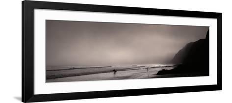 Surfers on the Beach, Point Reyes National Seashore, Marin County, California, USA--Framed Art Print