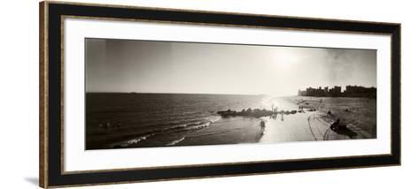 Tourists on the Beach, Coney Island, Brooklyn, New York City, New York State, USA--Framed Art Print