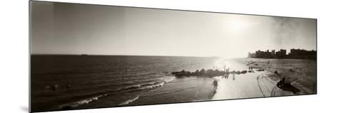 Tourists on the Beach, Coney Island, Brooklyn, New York City, New York State, USA--Mounted Photographic Print