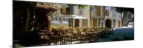 Sidewalk Cafe in a Village, Claviers, Var, Provence-Alpes-Cote D'Azur, France--Mounted Photographic Print
