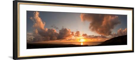 Sunset Over the Sea, Kona Coast, Kealakekua Bay, Hawaii, USA--Framed Art Print