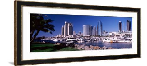 Boats at a Harbor, San Diego, California, USA 2010--Framed Art Print