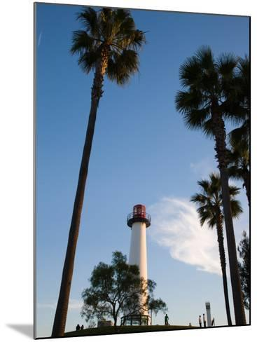 Low Angle View of a Lighthouse, Shoreline Village, Long Beach, Los Angeles County, California, USA--Mounted Photographic Print