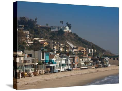 Houses at the Waterfront, Malibu, Los Angeles County, California, USA--Stretched Canvas Print