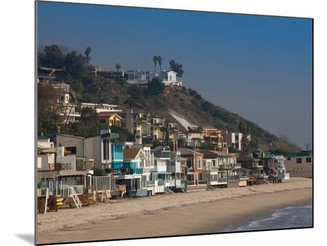 Houses at the Waterfront, Malibu, Los Angeles County, California, USA--Mounted Photographic Print