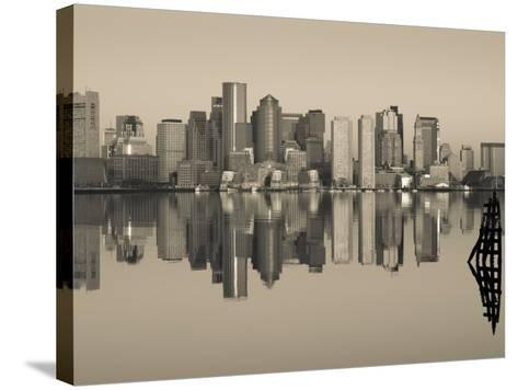 Reflection of Buildings in Water, Boston, Massachusetts, USA--Stretched Canvas Print