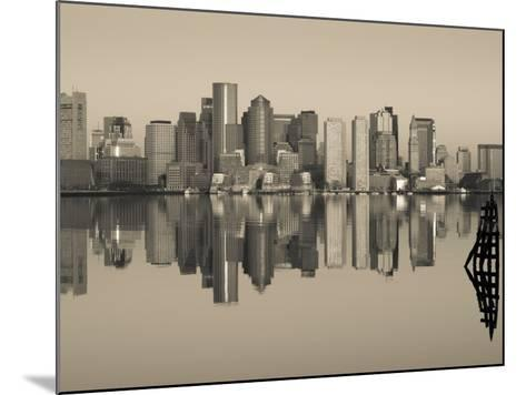 Reflection of Buildings in Water, Boston, Massachusetts, USA--Mounted Photographic Print