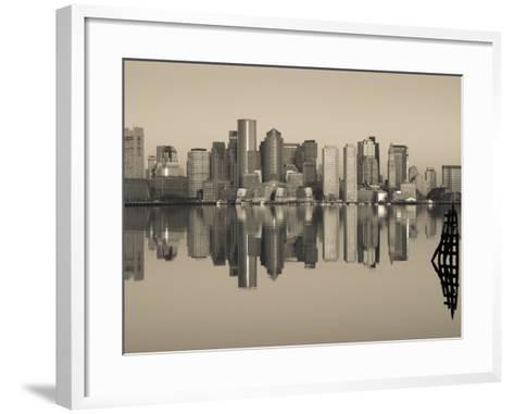 Reflection of Buildings in Water, Boston, Massachusetts, USA--Framed Art Print