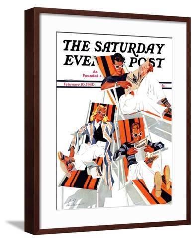 """Winter Vacation,"" Saturday Evening Post Cover, February 10, 1940-Ski Weld-Framed Art Print"