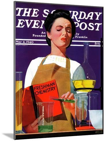 """""""Freshmen Chemistry,"""" Saturday Evening Post Cover, May 4, 1940-John Hyde Phillips-Mounted Giclee Print"""