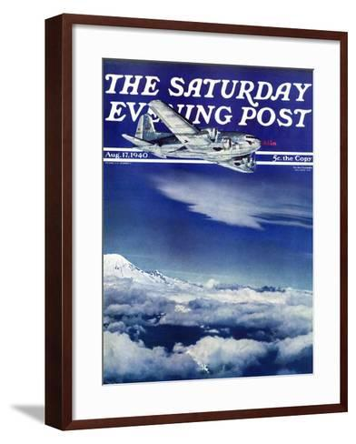 """Flight Above Clouds,"" Saturday Evening Post Cover, August 17, 1940-Clyde H^ Sunderland-Framed Art Print"