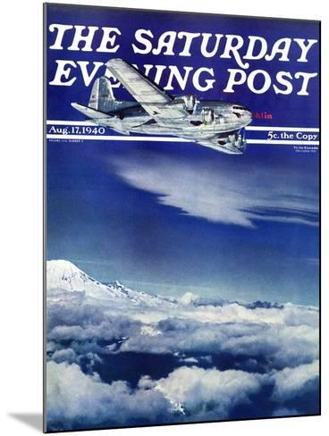 """Flight Above Clouds,"" Saturday Evening Post Cover, August 17, 1940-Clyde H^ Sunderland-Mounted Giclee Print"