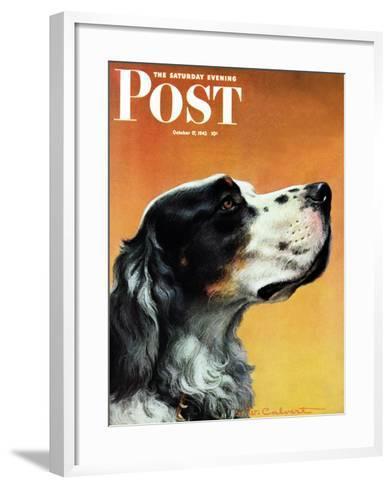 """Gordon Setter,"" Saturday Evening Post Cover, October 17, 1942-W^W^ Calvert-Framed Art Print"