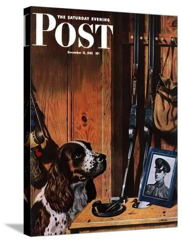 """Patient Dog,"" Saturday Evening Post Cover, December 12, 1942-John Atherton-Stretched Canvas Print"