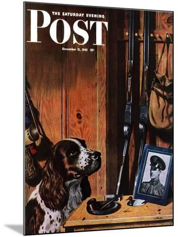 """Patient Dog,"" Saturday Evening Post Cover, December 12, 1942-John Atherton-Mounted Giclee Print"