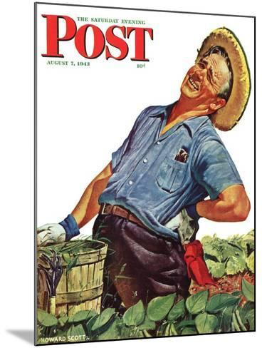 """""""Victory Garden,"""" Saturday Evening Post Cover, August 7, 1943-Howard Scott-Mounted Giclee Print"""