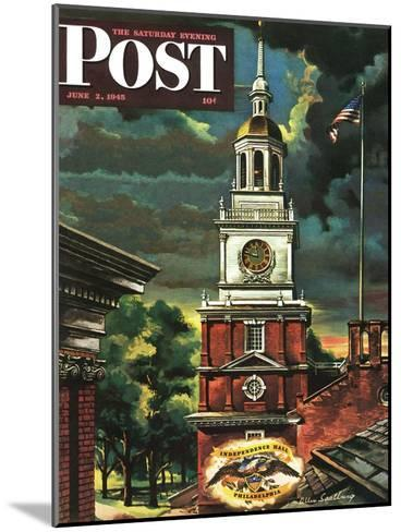 """Independence Hall, Philadelphia, Pa.,"" Saturday Evening Post Cover, June 2, 1945-Allen Saalburg-Mounted Giclee Print"