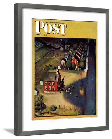 """School's Out,"" Saturday Evening Post Cover, June 9, 1945-John Falter-Framed Art Print"