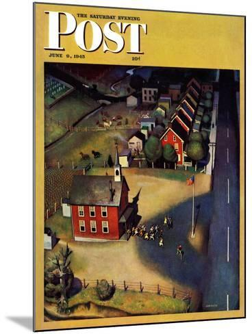 """""""School's Out,"""" Saturday Evening Post Cover, June 9, 1945-John Falter-Mounted Giclee Print"""