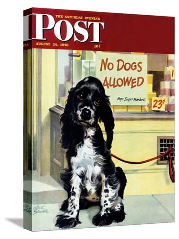 """No Dogs Allowed,"" Saturday Evening Post Cover, August 24, 1946-Albert Staehle-Stretched Canvas Print"