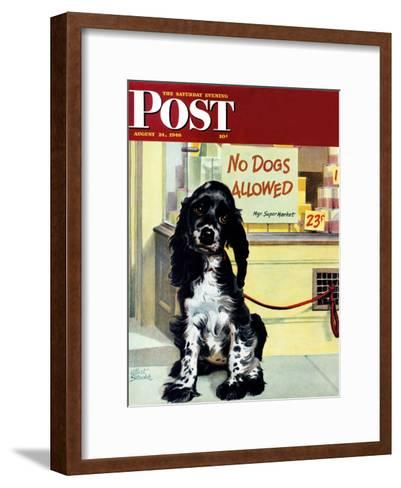 """No Dogs Allowed,"" Saturday Evening Post Cover, August 24, 1946-Albert Staehle-Framed Art Print"