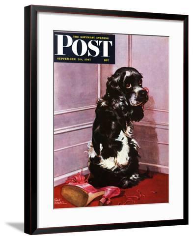 """Bad Dog, Butch,"" Saturday Evening Post Cover, September 20, 1947-Albert Staehle-Framed Art Print"
