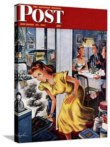 """Burnt Turkey,"" Saturday Evening Post Cover, November 29, 1947-Constantin Alajalov-Stretched Canvas Print"