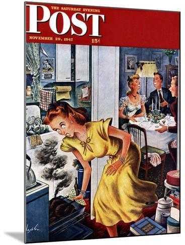 """Burnt Turkey,"" Saturday Evening Post Cover, November 29, 1947-Constantin Alajalov-Mounted Giclee Print"