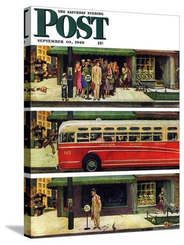 """Missed the Bus,"" Saturday Evening Post Cover, September 10, 1949-Thornton Utz-Stretched Canvas Print"
