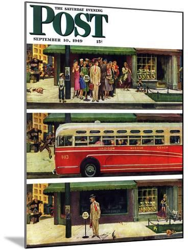 """Missed the Bus,"" Saturday Evening Post Cover, September 10, 1949-Thornton Utz-Mounted Giclee Print"