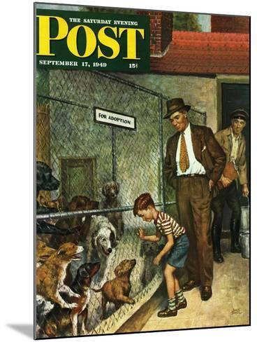 """Dog Pound,"" Saturday Evening Post Cover, September 17, 1949-Amos Sewell-Mounted Giclee Print"