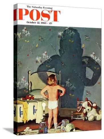 """Big Shadow, Little Boy,"" Saturday Evening Post Cover, October 22, 1960-Richard Sargent-Stretched Canvas Print"