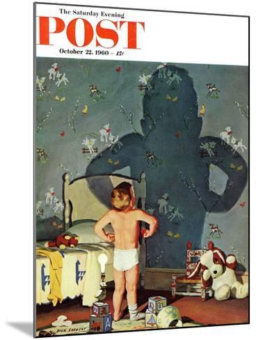 """Big Shadow, Little Boy,"" Saturday Evening Post Cover, October 22, 1960-Richard Sargent-Mounted Giclee Print"