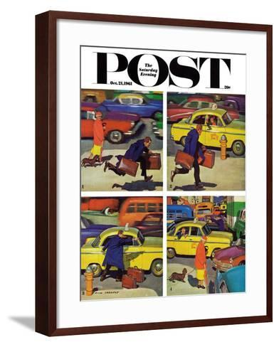 """Rush Hour (4 panel),"" Saturday Evening Post Cover, October 21, 1961-Richard Sargent-Framed Art Print"