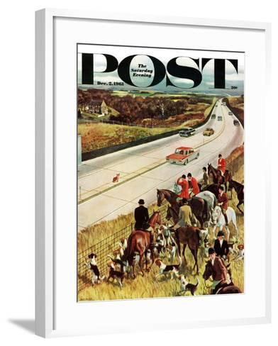 """Foxhunters Outfoxed,"" Saturday Evening Post Cover, December 2, 1961-John Falter-Framed Art Print"