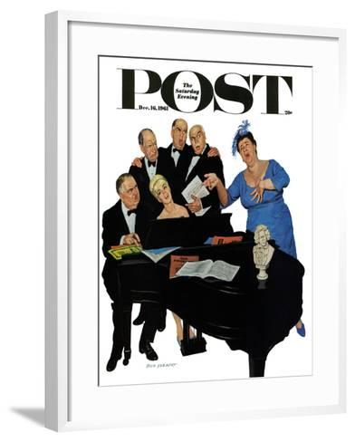 """The Fat Lady Sings,"" Saturday Evening Post Cover, December 16, 1961-Richard Sargent-Framed Art Print"