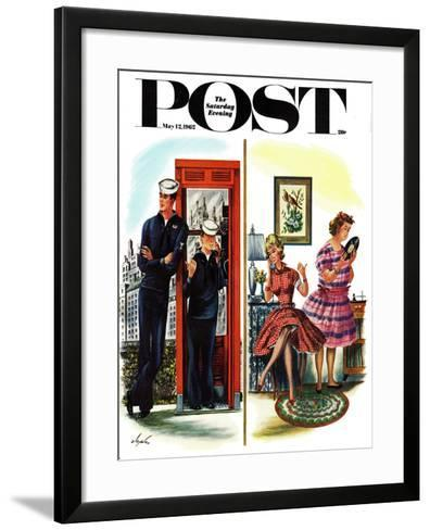 """""""She Has a Great Personality,"""" Saturday Evening Post Cover, May 12, 1962-Constantin Alajalov-Framed Art Print"""